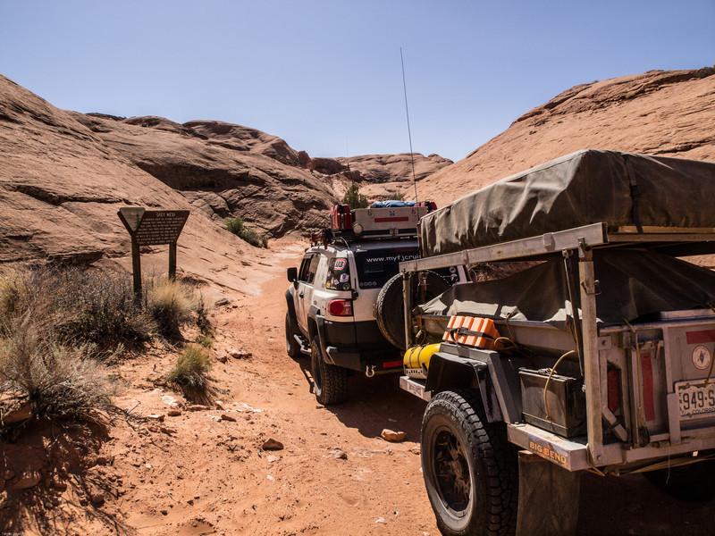 Near Gray Mesa<br /> The trail follows the wash