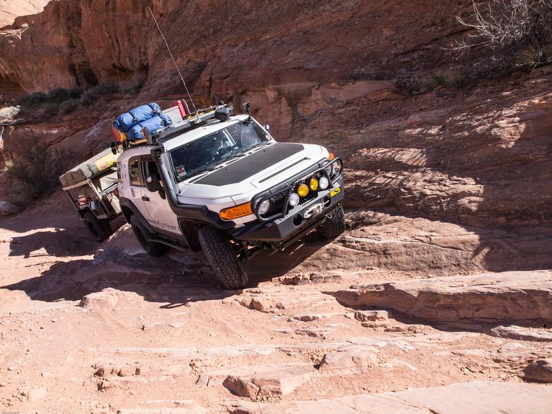 Gray Mesa<br /> Avoiding a small washout - 3