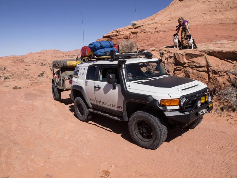 Gray Mesa<br /> Halfway up the climb