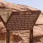 Gray Mesa Grey Mesa sign