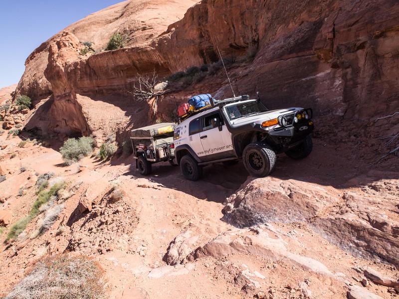Grey Mesa<br /> Avoiding a small washout