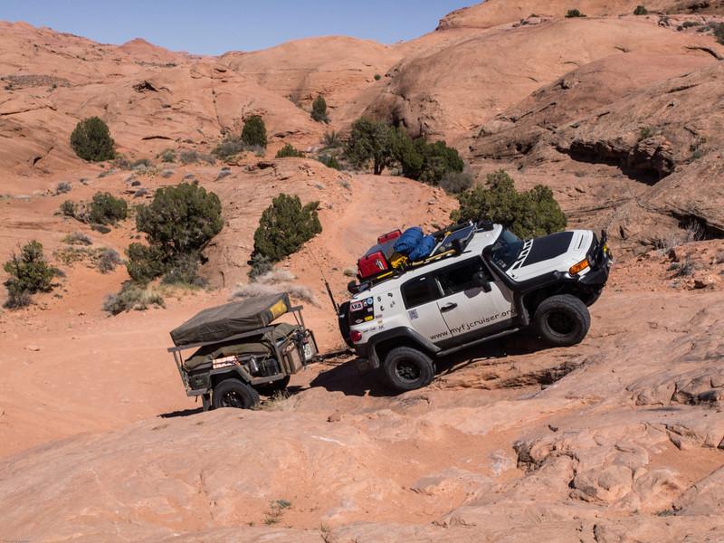 Gray Mesa<br /> Starting the climb up Gray Mesa