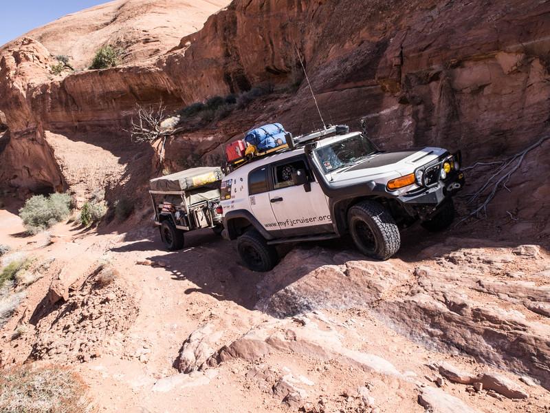 Gray Mesa<br /> Avoiding a small washout - 2