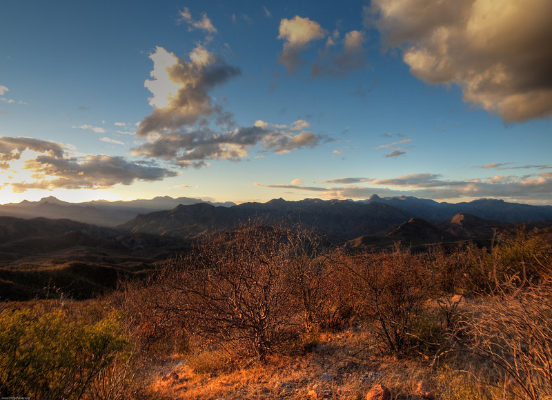 View of the Sierra Madre Mountains