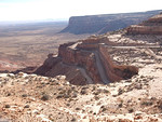 Looking down on the Moqui dugway