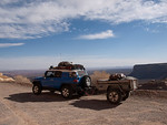 FJ Cruiser on the Moqui dugway