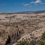 Looking down into Lower Calf Creek from the highway
