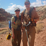 Tomas and Nancy on the Calf Creek Falls hike