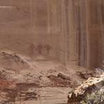 Rock art on the Calf Creek Falls hike