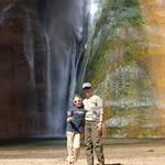 Nancy and LJ at Lower Calf Creek Falls