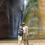 Nancy and LJ at Lower Calf Creek Falls