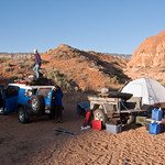 Breaking camp at Sooner Rocks