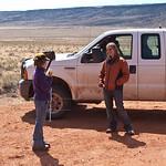 Nancy talking with Condor Biologist