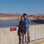 Nancy and LJ on the Glen Canyon Dam