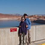 Nancy and LJ on the Glen Canyon Dam