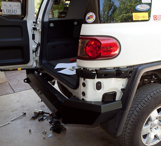All Pro Off Road Rear Bumper Installed