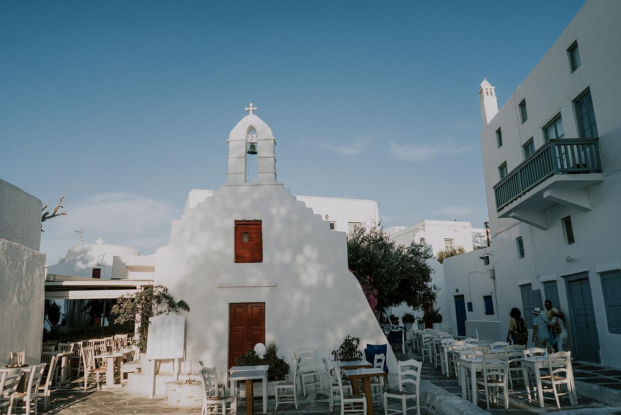 Greek Orthodox Wedding in Mykonos