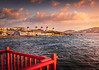 Sunset in Little Venice - Mykonos, Greece