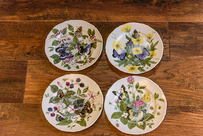4 limoges porcelian plates french