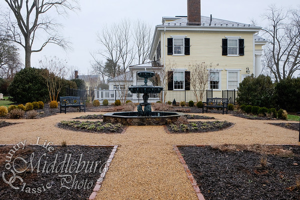 Charming fountains and pathways