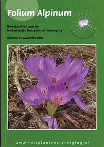 Front Cover, Colchicum bivonae, lower hills of Mount Elikonas, Attica, Greece, September 2006 (Kees Jan van Zwienen)