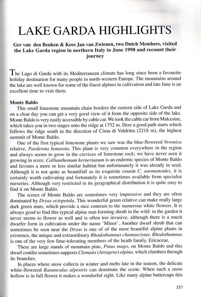 Quaterly Bulletin of the Alpine Garden Society
