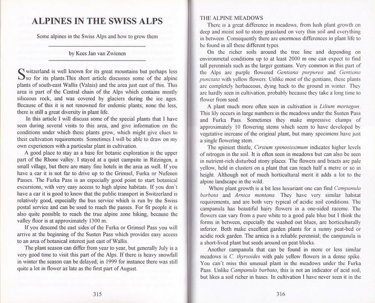 Alpines in the Swiss Alps, Kees Jan van Zwienen, June 2000