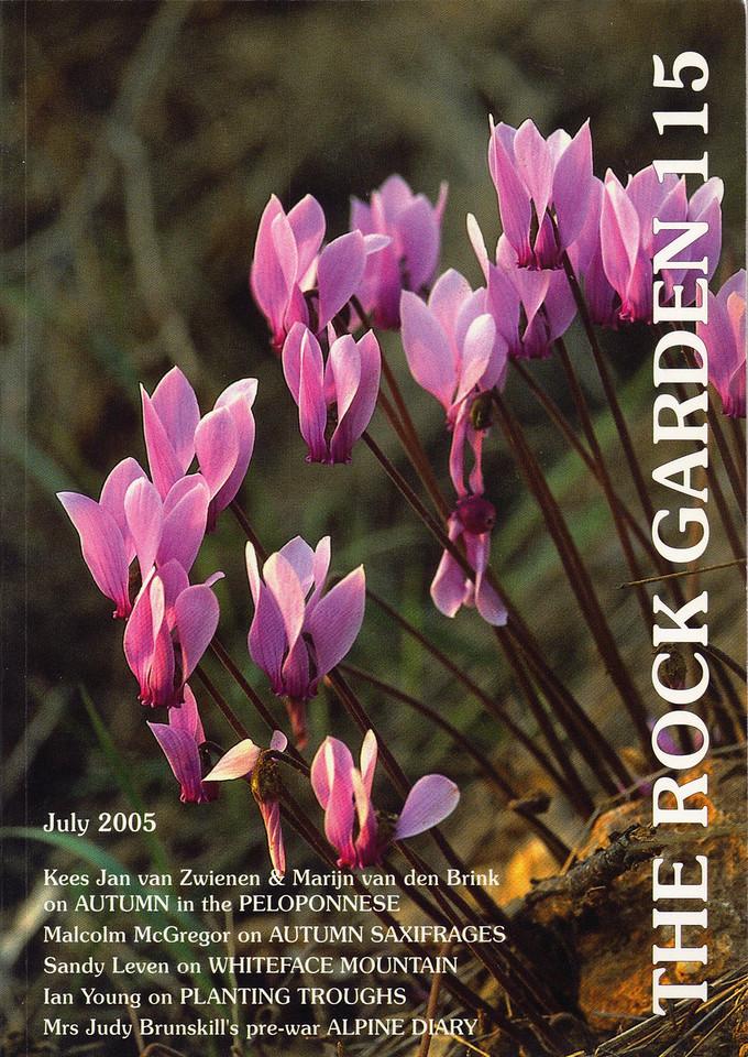 The Rock Garden, journal of the Scottish Rock Garden Club