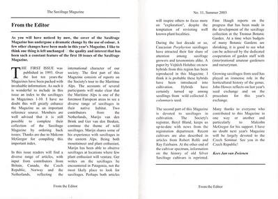 Editorial, Summer 2003