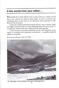 Editorial, Summer 2006