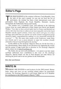 Editorial, Summer 2004