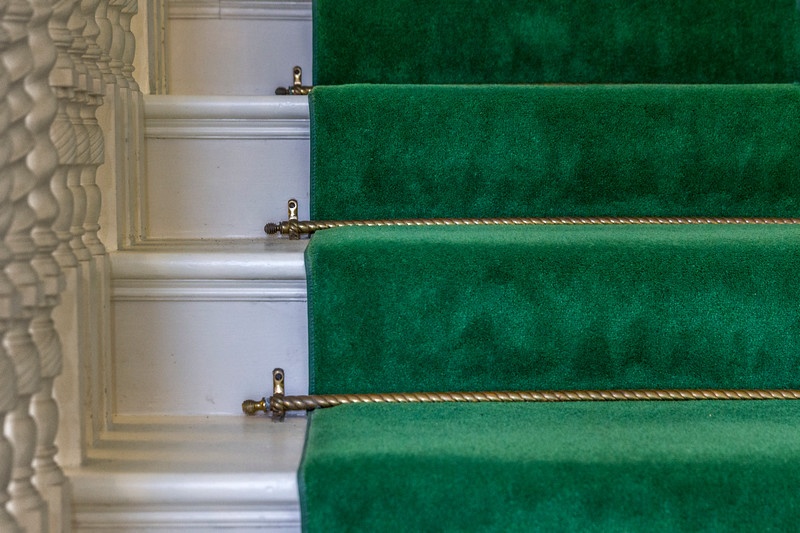 © 2015 Myrna Walsh - Stairway White, Green, Gold