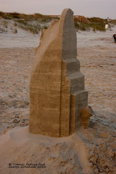 Titanic Sand sculpture fading fast