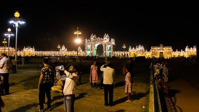 Breathtaking when all turned on simultaneously. - Jayamartaanda Gate in the center.
