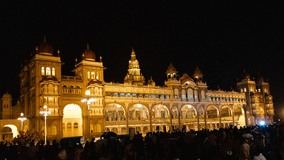 Mysore Palace with normal lighting.