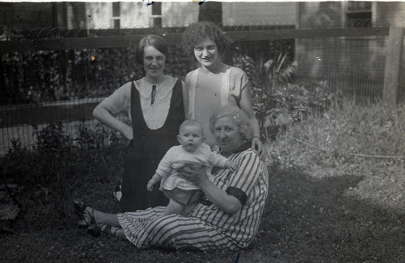 Mrs Block with her daughter in law, Lillian, grandchild