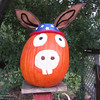 A Democrat pumpkin. (Heather Hacking--Enterpris-Record).