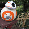 """This pumpkin, sport a styrofoam cap, looks a bit like he was inspired by BB=8 from the newest """"Star Wars"""" movie. The pumpkin appeared the week of Oct. 10 on the fencepost at the Root Family in south Chico. (Heather Hacking-Enterprise-Record)."""