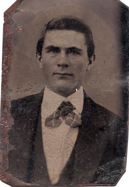 Unidentified Man in a Tintype III (07145)