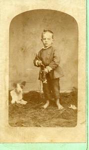 Unidentified boy and dog (01793)