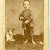 Unidentified boy and dog (01793)