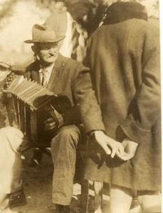 Unidentified Man Playing Accordion (02185)