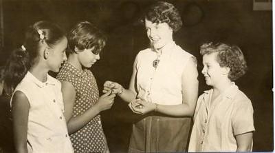 Girl Receiving an Award (02186)