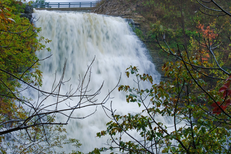 Albion Falls in Hamilton Ontario.  It was a rainy day and a slippery trek, but OH! was it worth it!<br /> A bit much water on this day, but got to see the Albion Falls in all it's might!