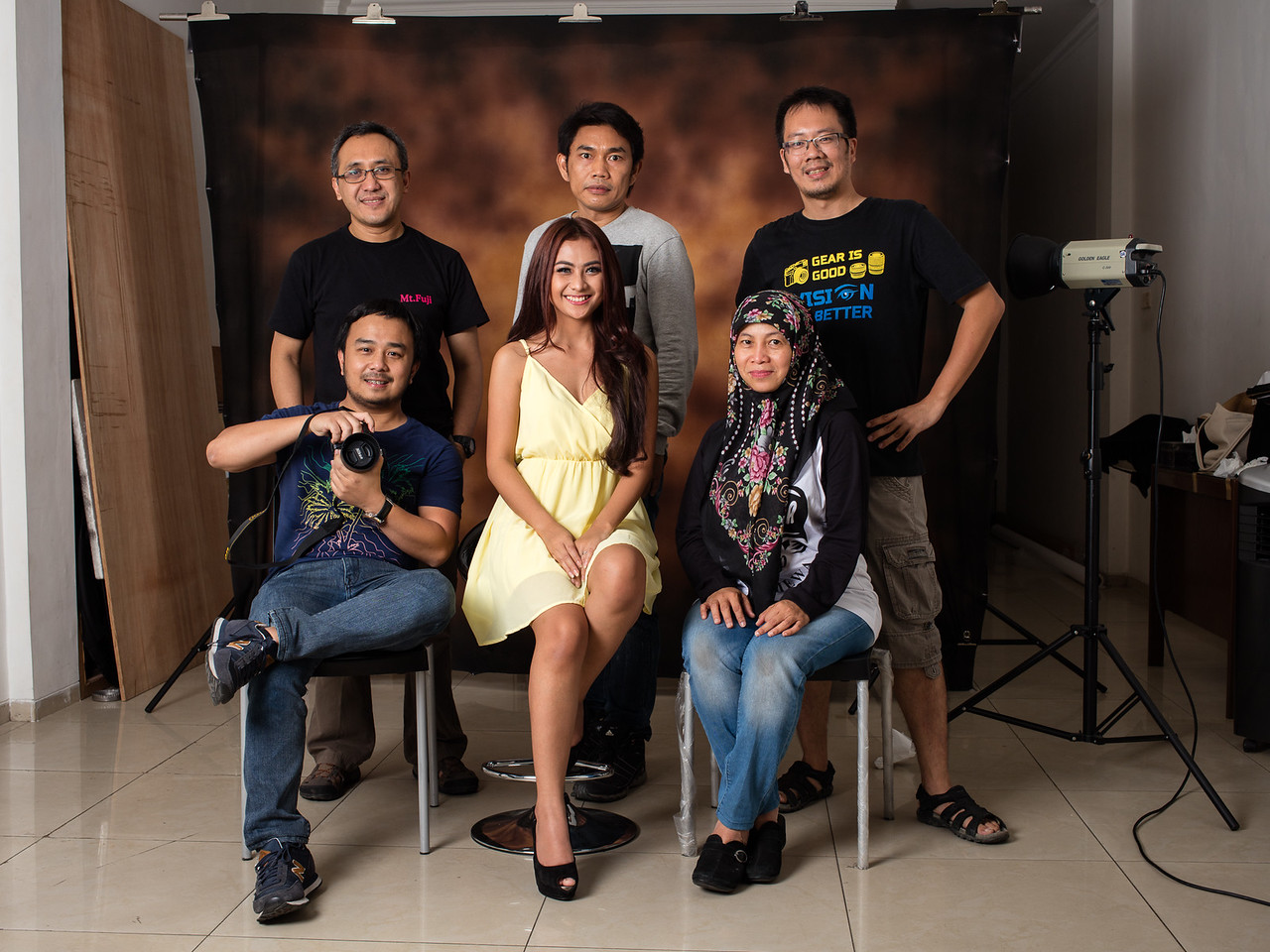 Workshop portrait model dengan flash di studio - Agustus 2015
