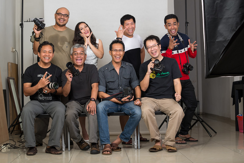 Portrait workshop dengan studio flash