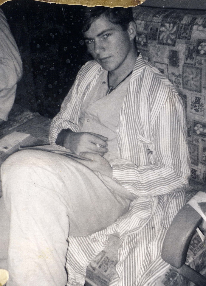 Recovering from combat wounds on Hospital Ship