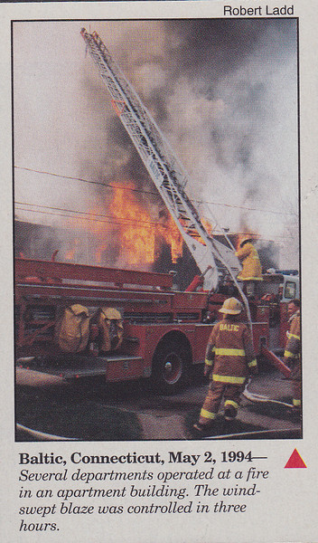 FireHouse Magazine, (HOTSHOTS) Baltic apartment building fire. May 1994