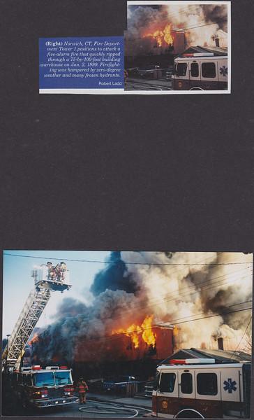 Firehouse (HOTSHOTS) Norwich Ct, Warehouse fire Jan 2,1999<br /> Original photo on bottom.