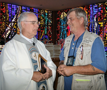 """Monsignor Frederic C. Brunet and I after the """"Shrimpers Mass"""""""